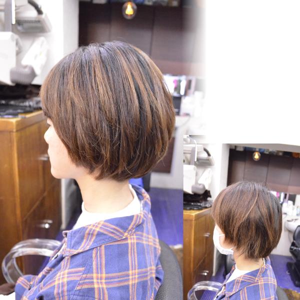 縮毛矯正の髪型でショートボブ2