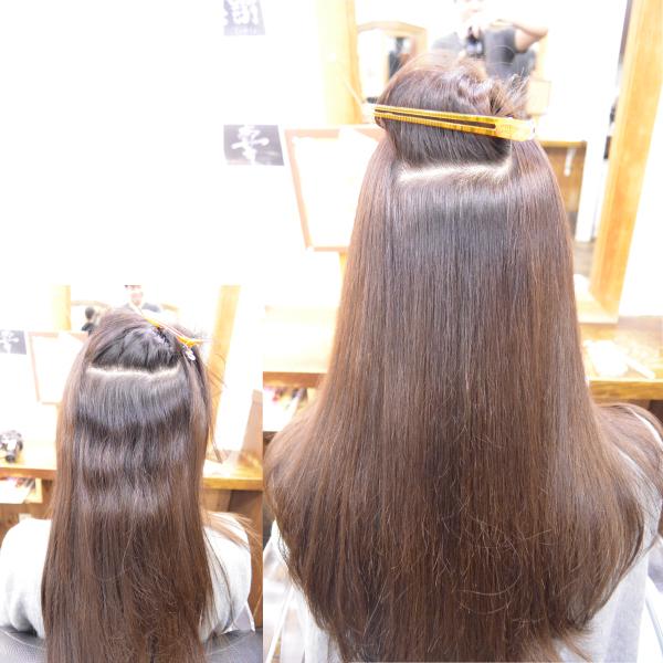 縮毛矯正の髪型ロングヘアー