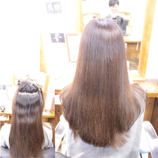 縮毛矯正髪型ロングヘアー