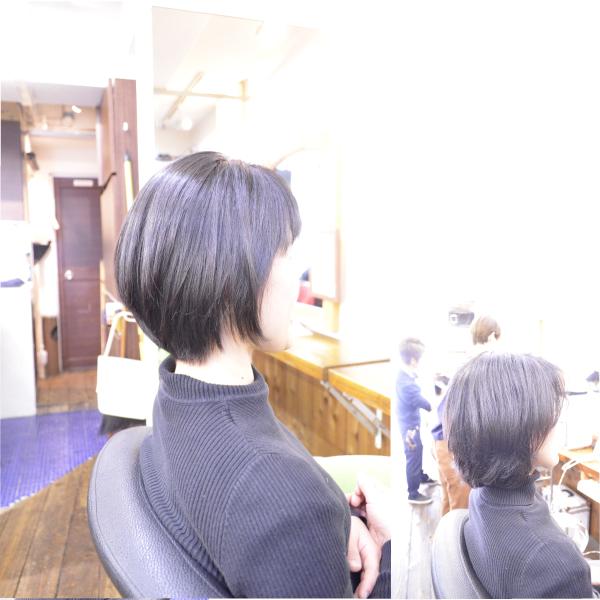 縮毛矯正の髪型でショートスタイル