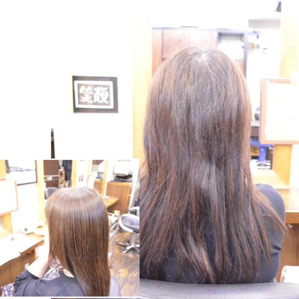 縮毛矯正の期間が1年でも…リタッチで艶髪に
