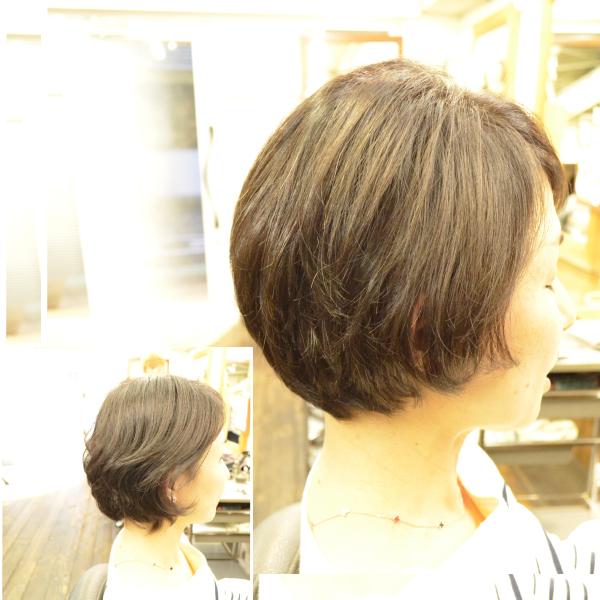 くせ毛を生かす髪型-40代-女性-ボブ