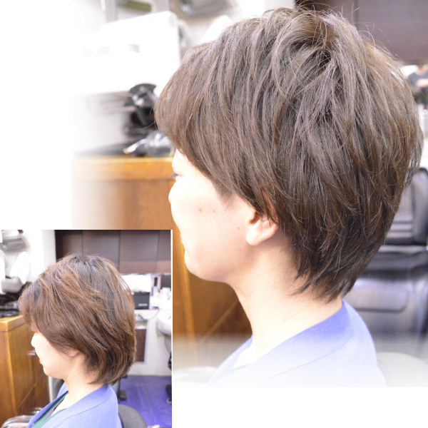 くせ毛を生かした髪型-ショート-30代女性