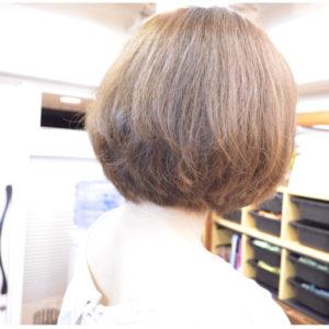 脱縮毛矯正でくせ毛を生かした髪型-ボブ編