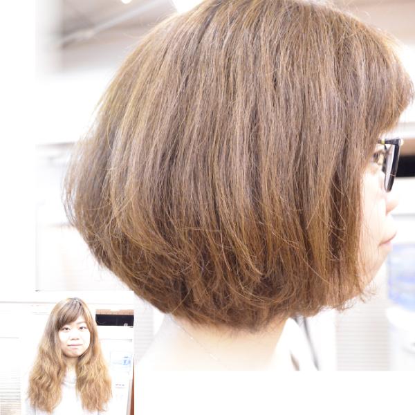 脱縮毛矯正でくせ毛を生かす髪型-ボブ