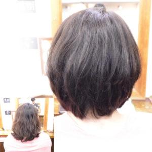 くせ毛を生かした髪型-ショートボブ5
