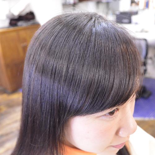 縮毛矯正-前髪-カール