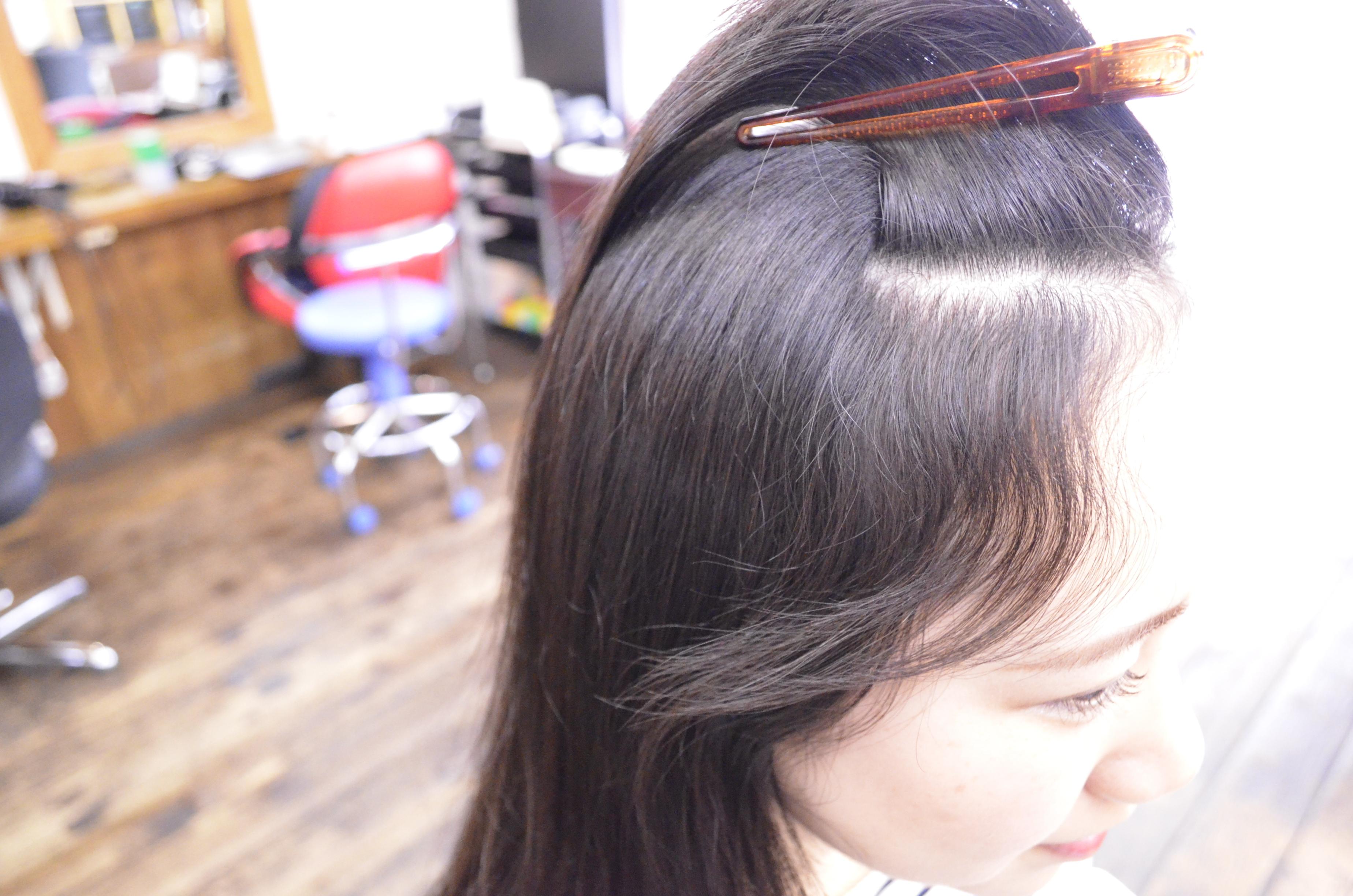 縮毛矯正-前髪-自然