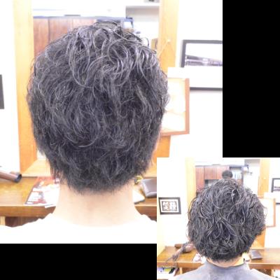 くせ毛を生かした髪型-メンズ1