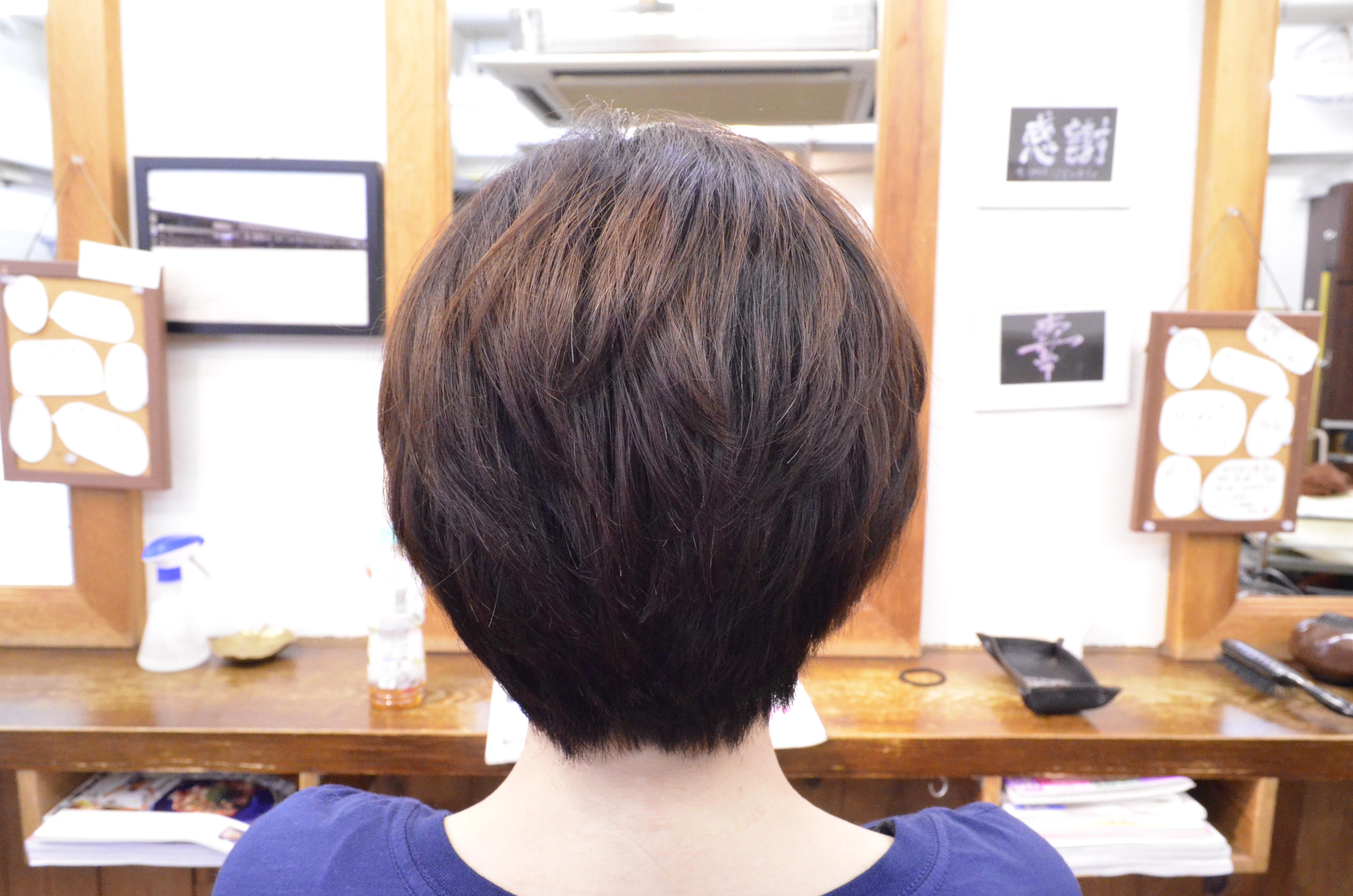 縮毛矯正髪型ショート