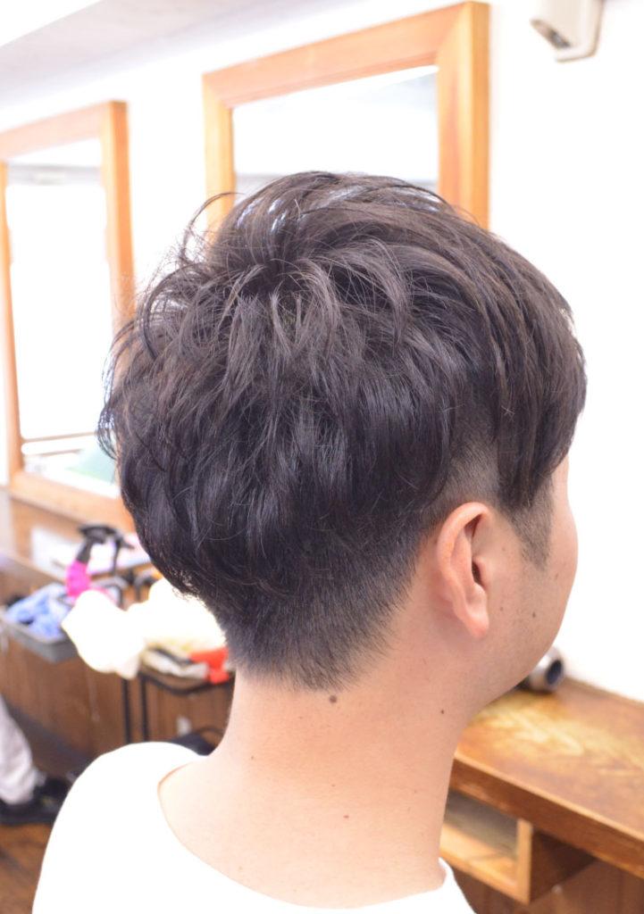 メンズパーマ短髪